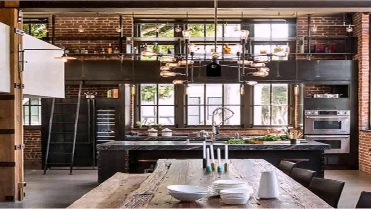 Industrial Loft Style House Plans Youtube Industrial Interior