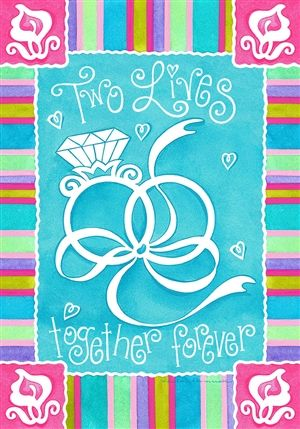 Together Forever Wedding House And Garden Flag Free Shipping