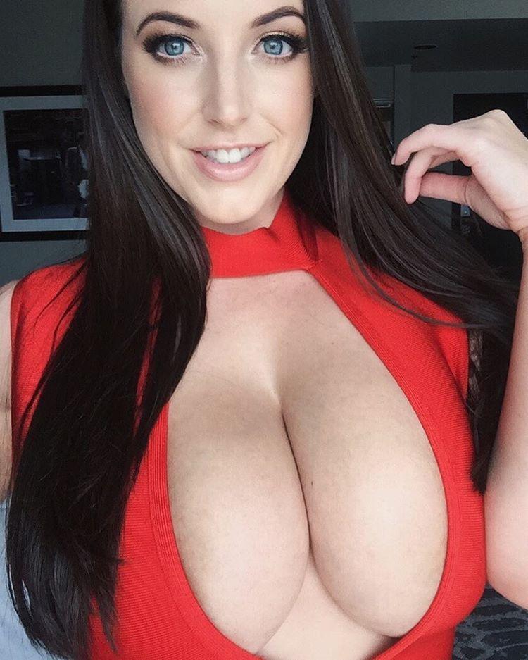 Busty wife cum on tits