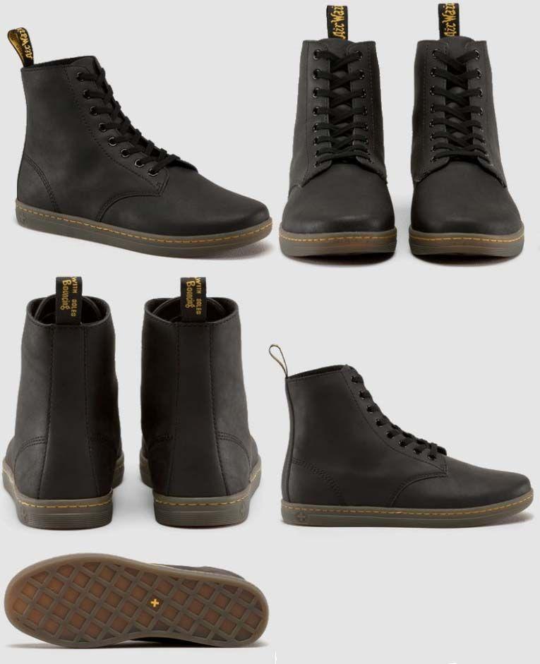 Tobias 8 Eye Split Greasy (Suede) Dr. Martens Boots- Black  089ca455ca