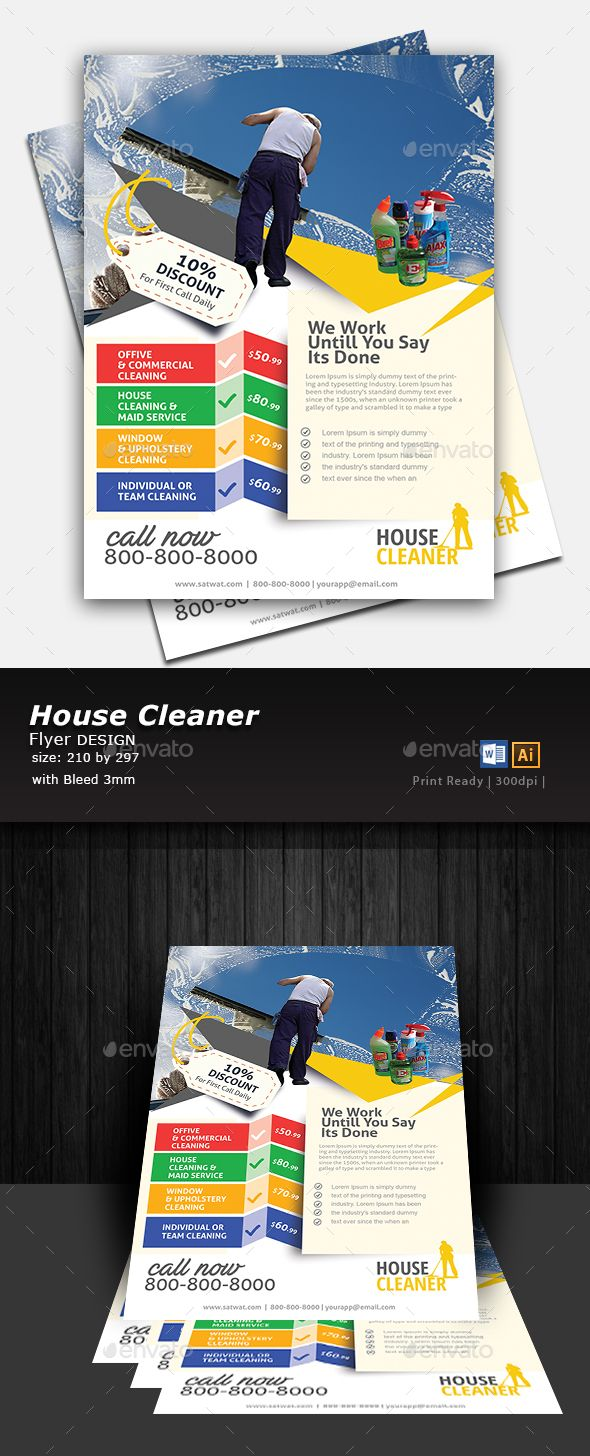 House Cleaning Flyer  Flyer Template Flyer Printing And Print