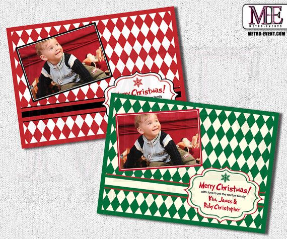 Christmas Greeting Card  Digital File or Printed by MetroEvents