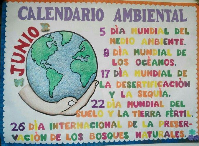 Cartelera Calendario Ambiental Con Imagenes Dia Del Planeta