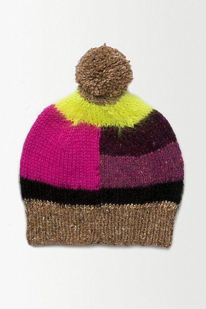 Colour Block Bobble Hat - anthropologie.eu   Fashion: I Love That ...