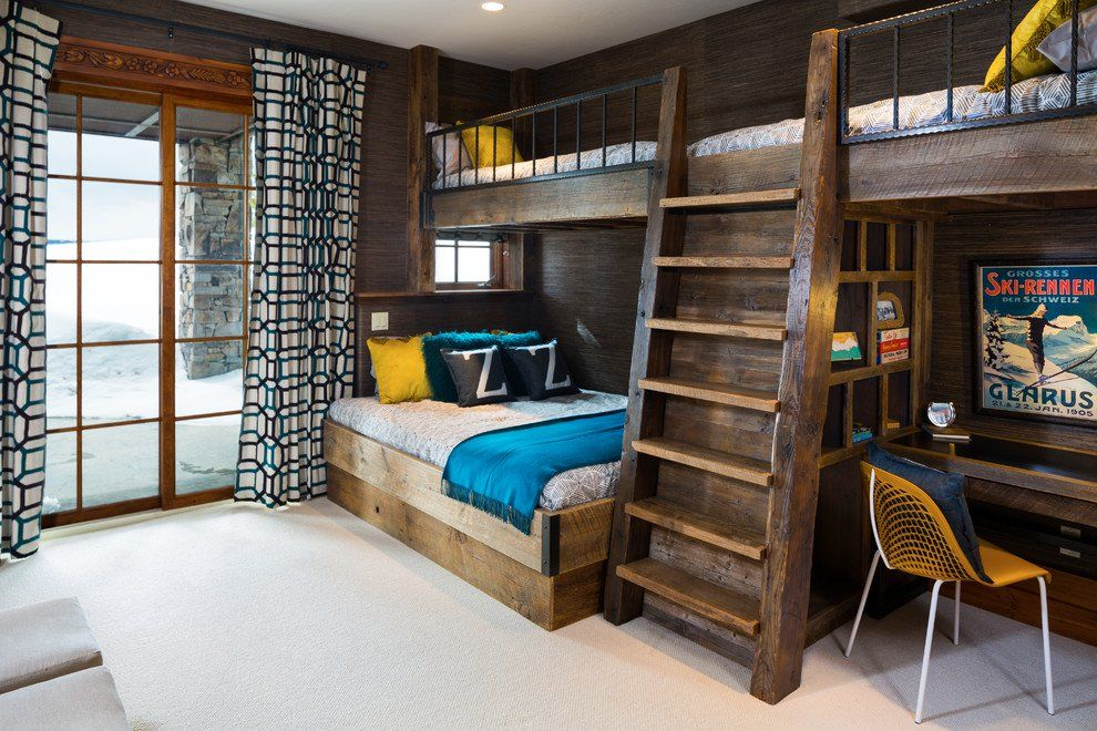 15 Fantastic Rustic Kids Room For Your Mountain Cabin Rustic Kids Rooms Rustic Kids Condo Decorating