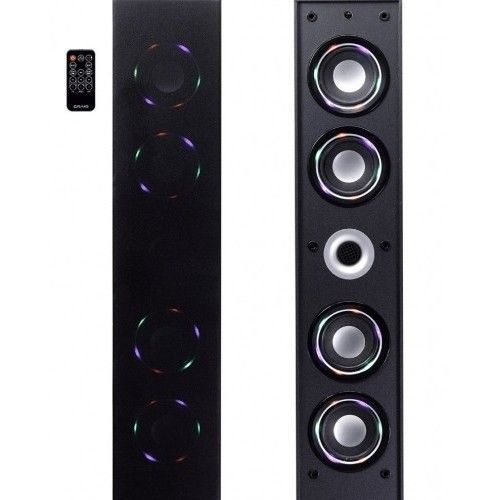 Bluetooth Speaker System Tower Color Changing Lighted Wireless Audio Smartphone Tower Speakers Wireless Technology Speaker System