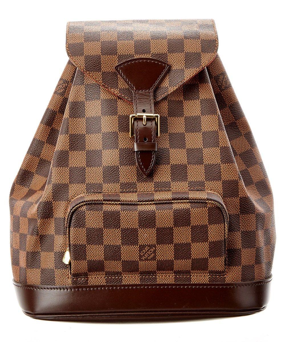 d2f402e9f3e2 LOUIS VUITTON Louis Vuitton Damier Ebene Canvas Montsouris Mm .   louisvuitton  bags  shoulder bags  lining  canvas