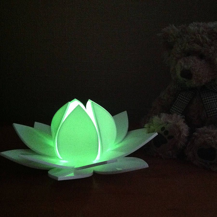 Lotus flower colour changing led battery operated light in 2018 lotus flower colour changing led with sensor by kirsty shaw notonthehighstreet izmirmasajfo