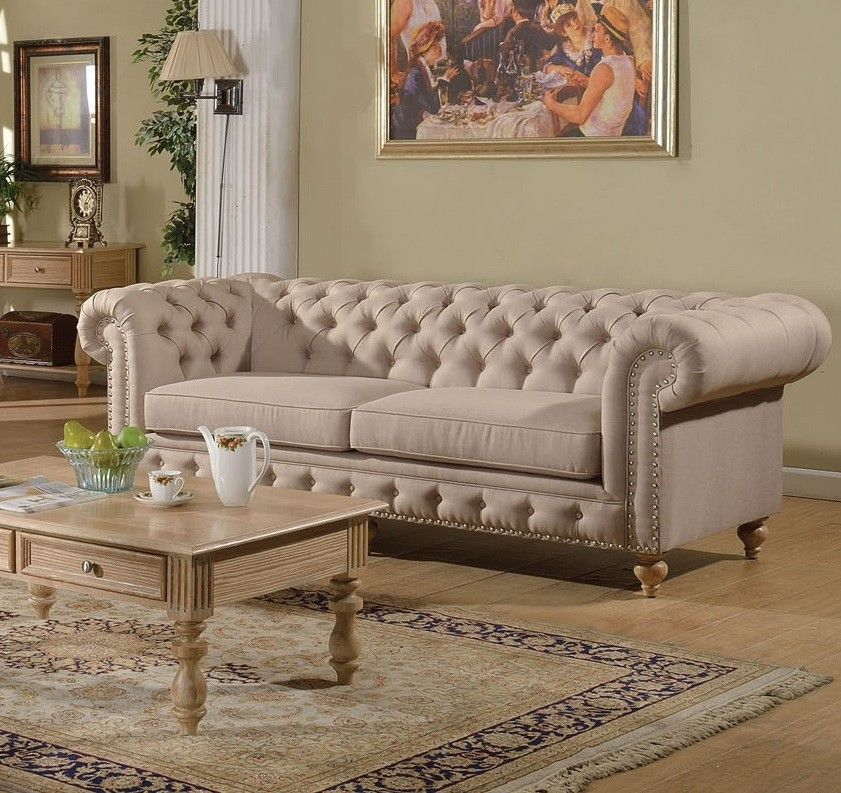 Charmant Nice Tufted Linen Sofa , Fantastic Tufted Linen Sofa 66 For Your Office Sofa  Ideas With