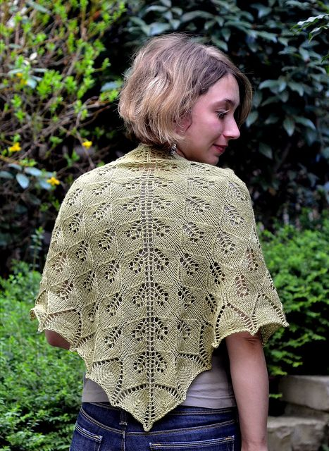 Cassandra by Marie Adeline, free lace shawl knit pattern