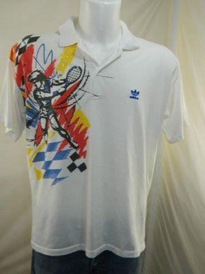 ecd4b37ad75 Adidas Agassi Polo T Shirt Maglia Maglietta Tennis Vintage G464 | eBay