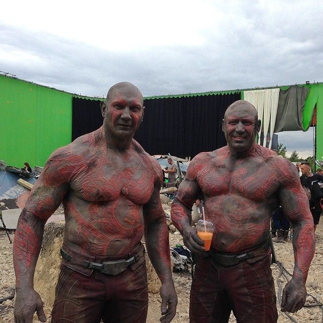 Dave Bautista And Drax Stunt Double I