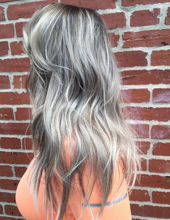 Metallic Pearl Gray Hair Color Ideas For Fall Winter 2018 Hair