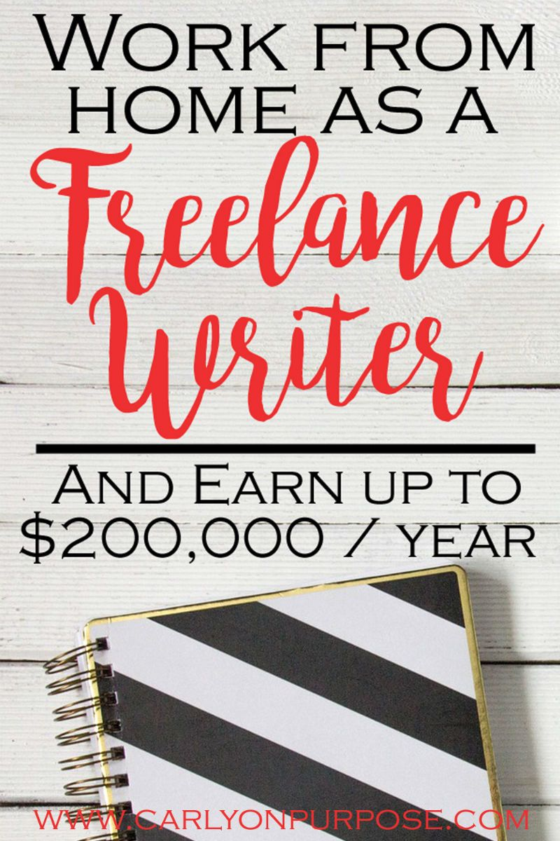 a Freelance Writer (and Work from Home) Freelance