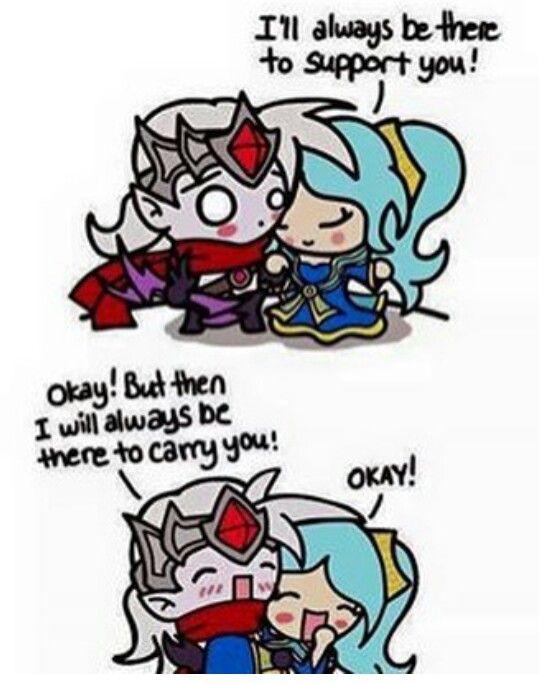 Leagueoflegends Sona Varus Support Adc Meme Love Cute Lol League Of Legends League Of Legends Comic League Memes