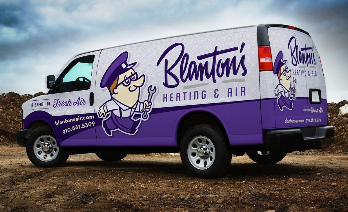 HVAC truck wrap design for heating and air conditioning