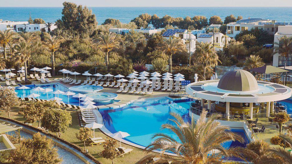 Minoa Resort pool side and gardens