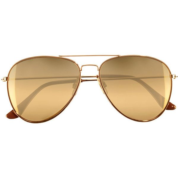 H&M Sunglasses ($4.55) ❤ liked on Polyvore featuring accessories, eyewear, sunglasses, glasses, h&m sunglasses, metal frame sunglasses, aviator sunglasses, uv protection glasses and aviator glasses