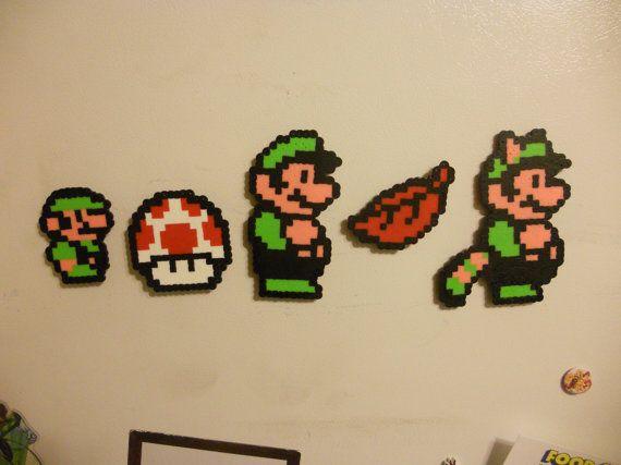 Super Mario Bros 3 Bead Sprite Magnete Impostato Mano Su