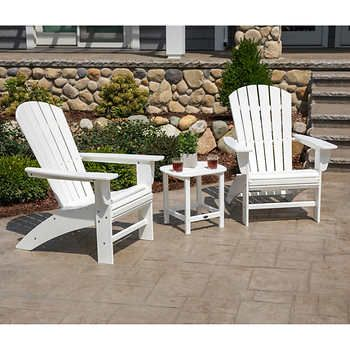 Long Beach Folding Adirondack Chair In 2020 Pergola Outdoor