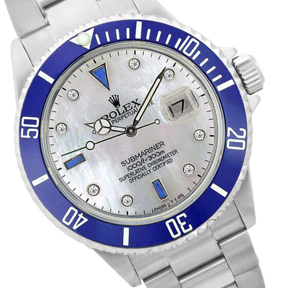 SPORT ROLEX SUBMARINER BLUE CERAMIC 16610 STEEL MOP W