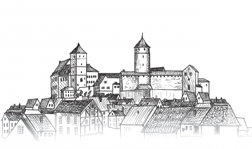 Old City View Coloring Page Kidspressmagazine Com City Sketch European Castles City View