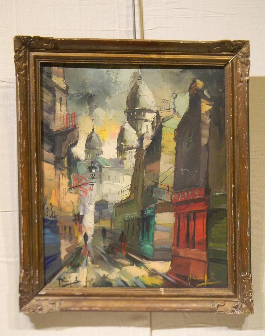 PNT-021 Paris Street Scene | Plantation Antique Galleries — 604 Bel Air Blvd., Mobile AL 36606 — (251) 470-9961
