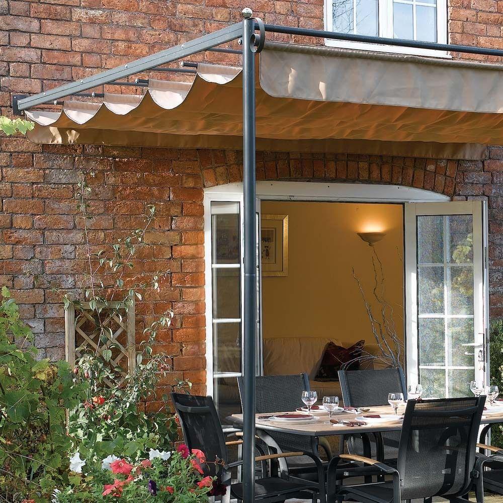 x FT x Retractable Metal Garden Pergola Canopy Patio Awning - Westmount Living & garden pergola awmings - Norton Safe Search | Backyard Spaces ...