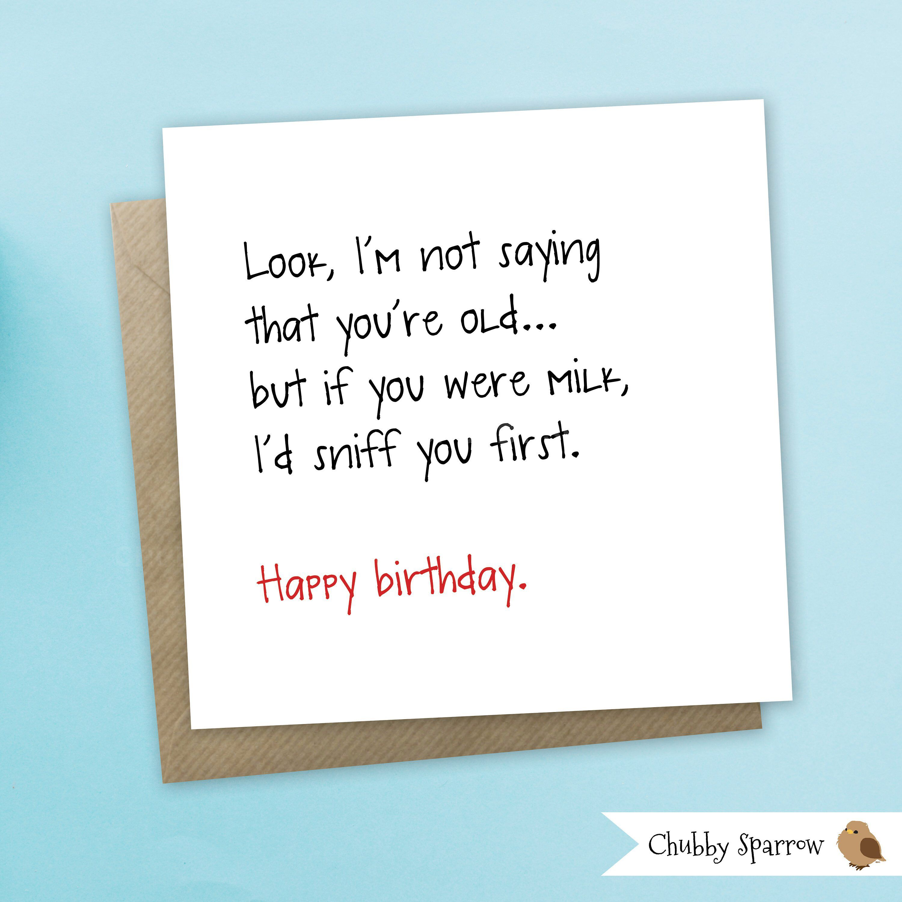 Funny Birthday Card Funny Greetings Card Not saying  Etsy  Funny