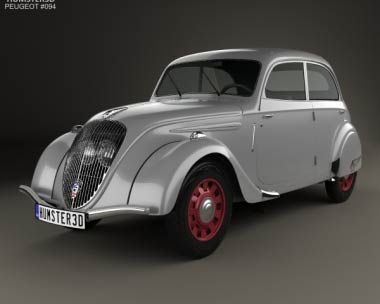 3D model of Peugeot 202 Berline 1938
