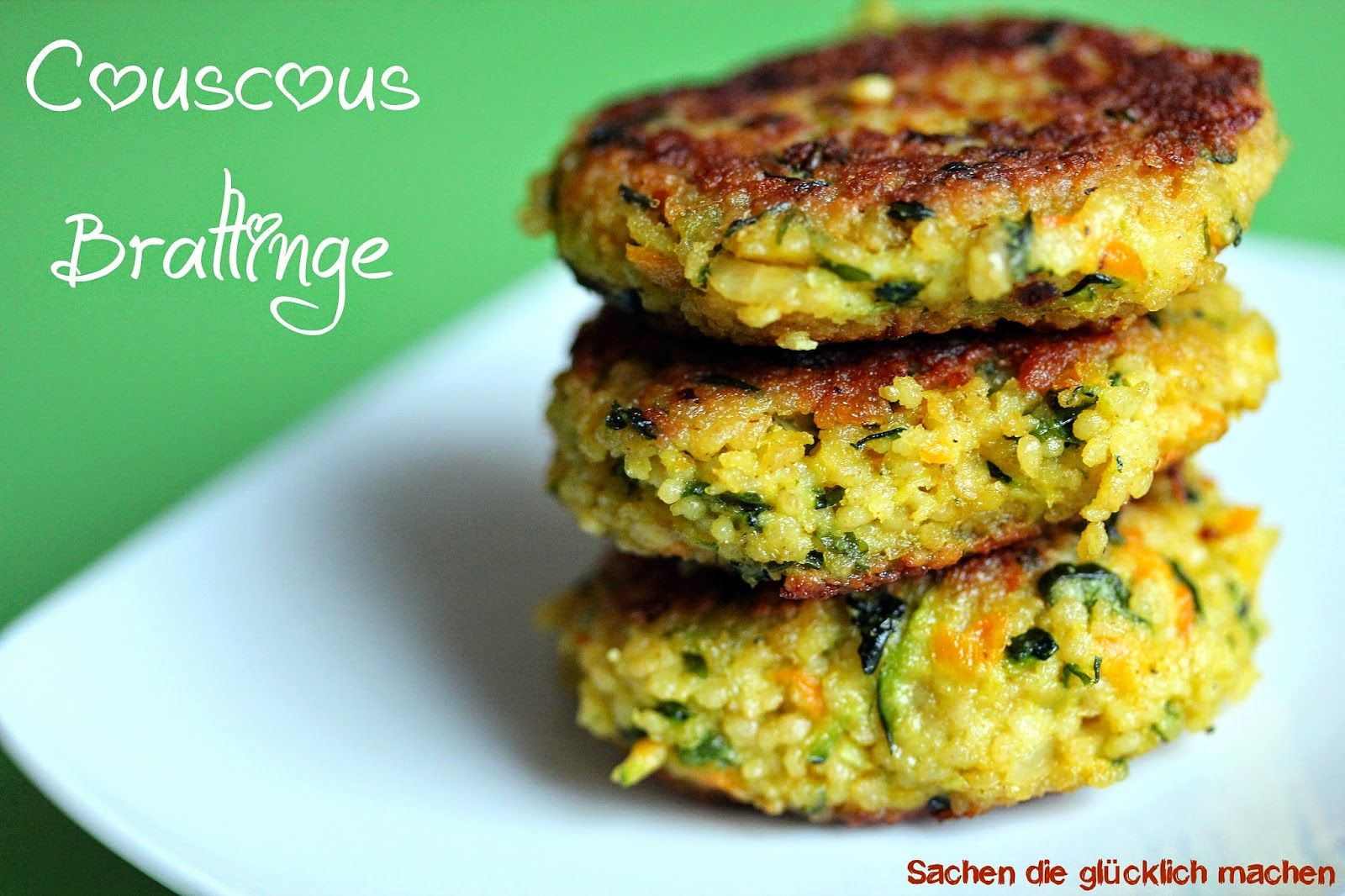 Photo of Things that make you happy: couscous patties (VEGAN possible)