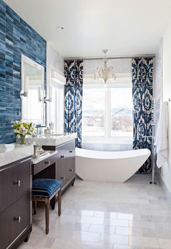 1001 + ideas de decoración de baños blancos modernos ...