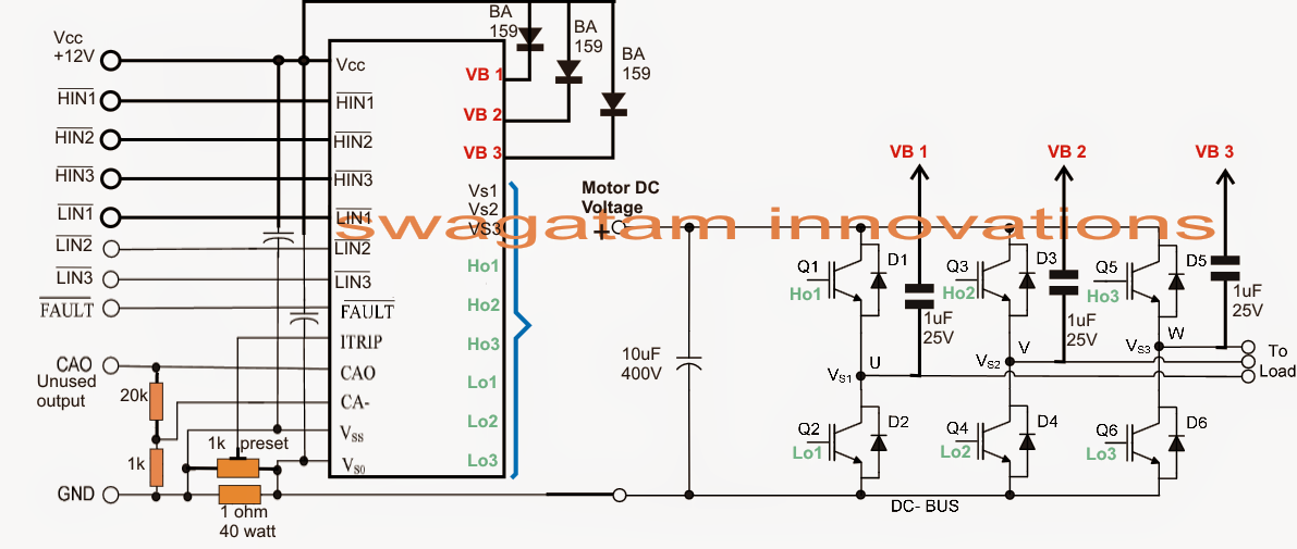 3 Phase Brushless (BLDC) Motor Driver Circuit | Brushless Motor ...