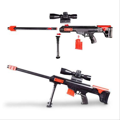 Compatible with Hasbro NERF children's boy simulation toy electric soft  sucker gun Barrett burst sniper rifle-SGshop