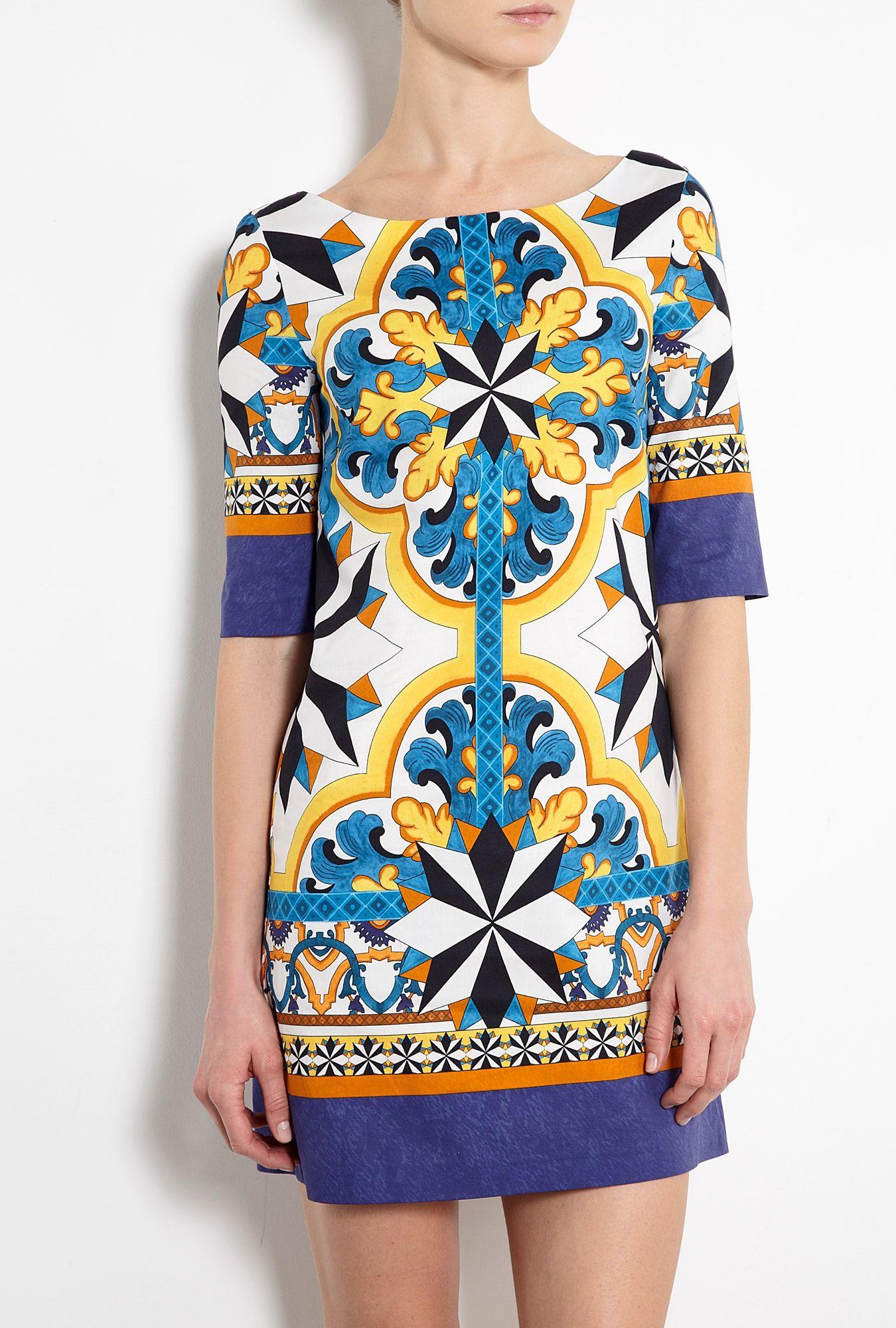 new concept 7cf64 1723d Tile Print Tunic Dress by Philosophy di Alberta Ferretti ...