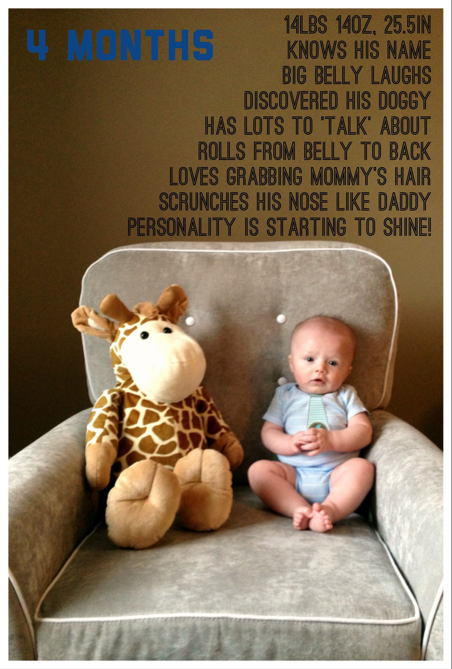 Baby Boy Wyatt Is 4 Months Old 16weeks Babyboy Newborn Photography Boy Monthly Baby Pictures 4 Month Old Baby