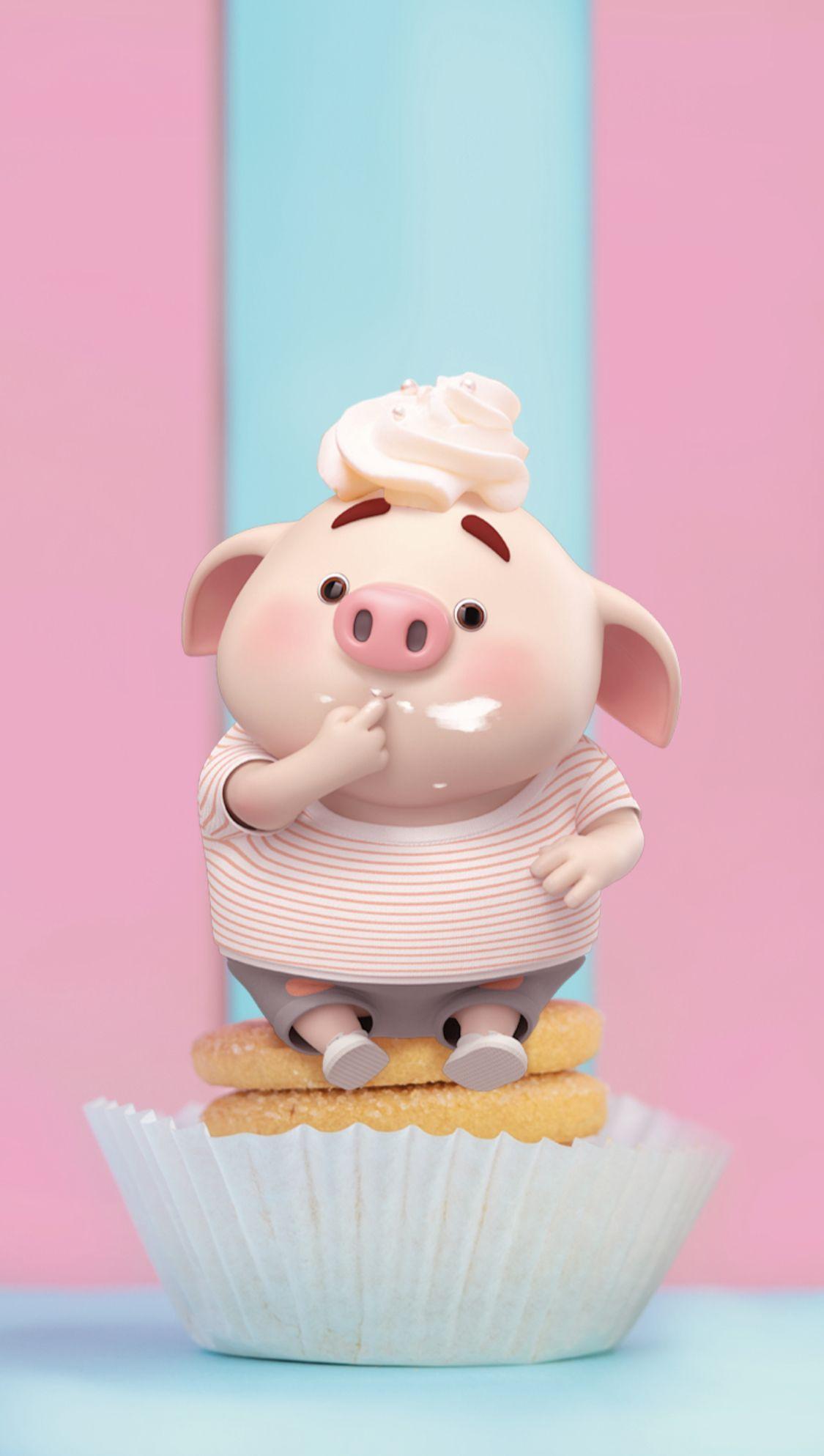 Little Pig ล กหม วอลเปเปอร คาวาอ