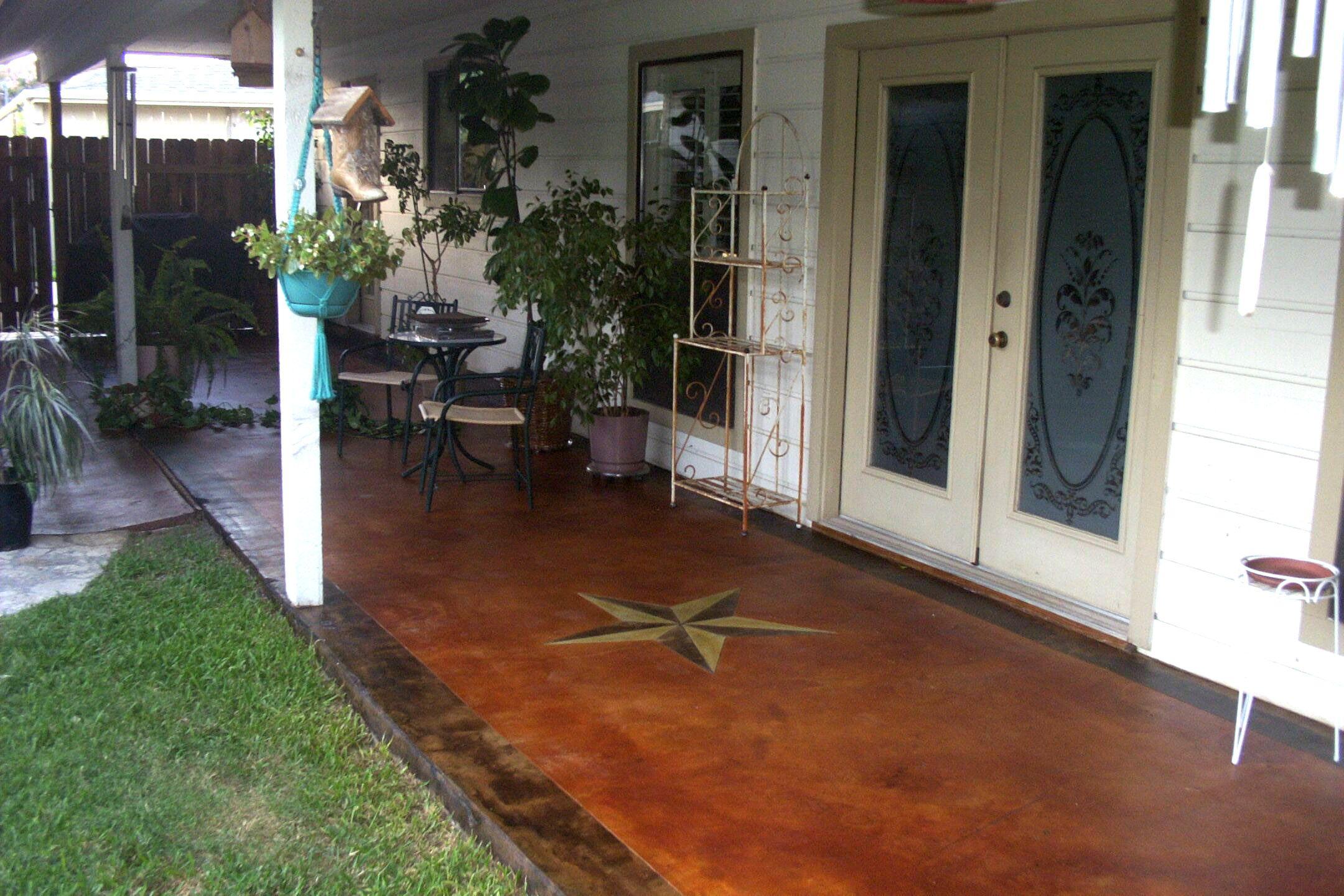 Amazing Decorative Concrete Patio