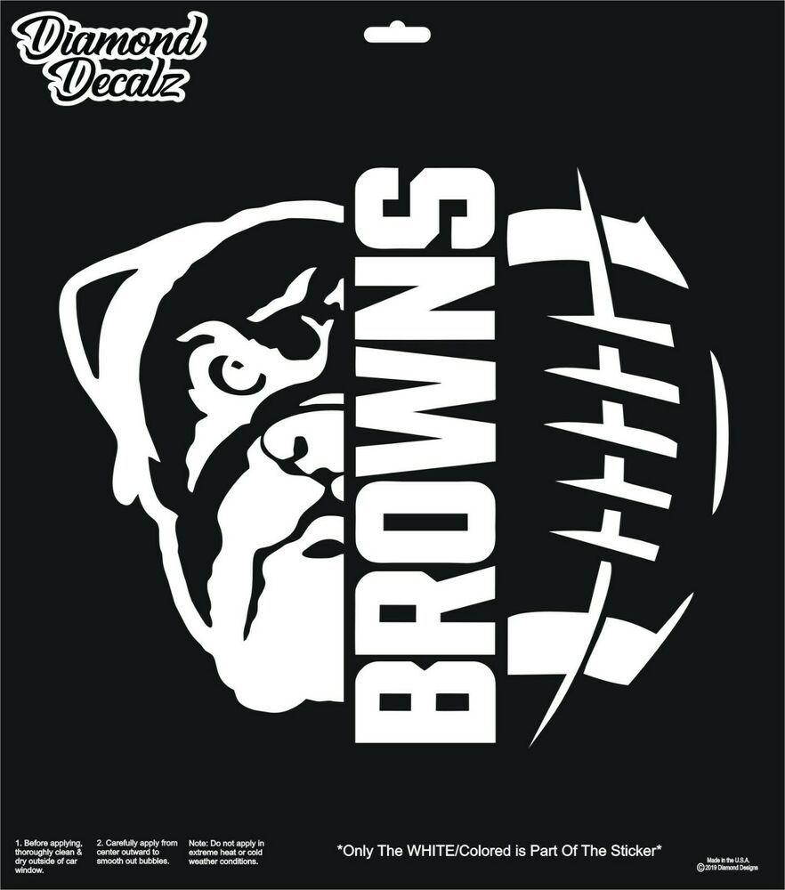Cleveland Brown Vinyl Decal Nfl Football Dawg Pound Car Truck Suv Window Sticker Diamonddecals Cleveland Browns Football Decal Cleveland Browns Logo