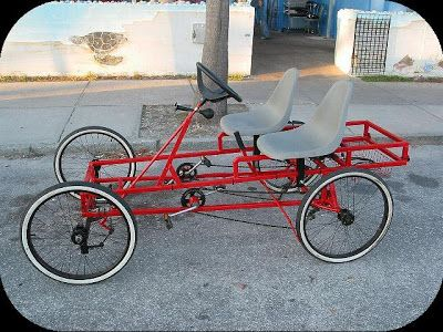 4 Wheel Bicycle Car Design Wheel Pedal Bike Car Car Interior
