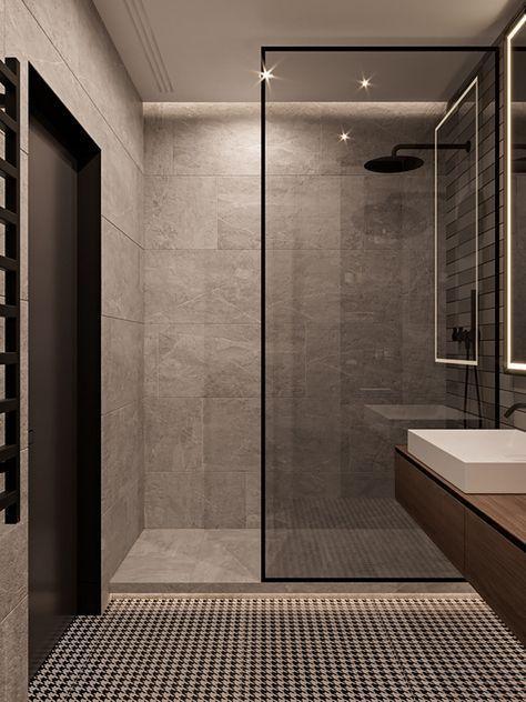 Kleines Badezimmer Offenes Gefuhl Schiebetur Badezimmer