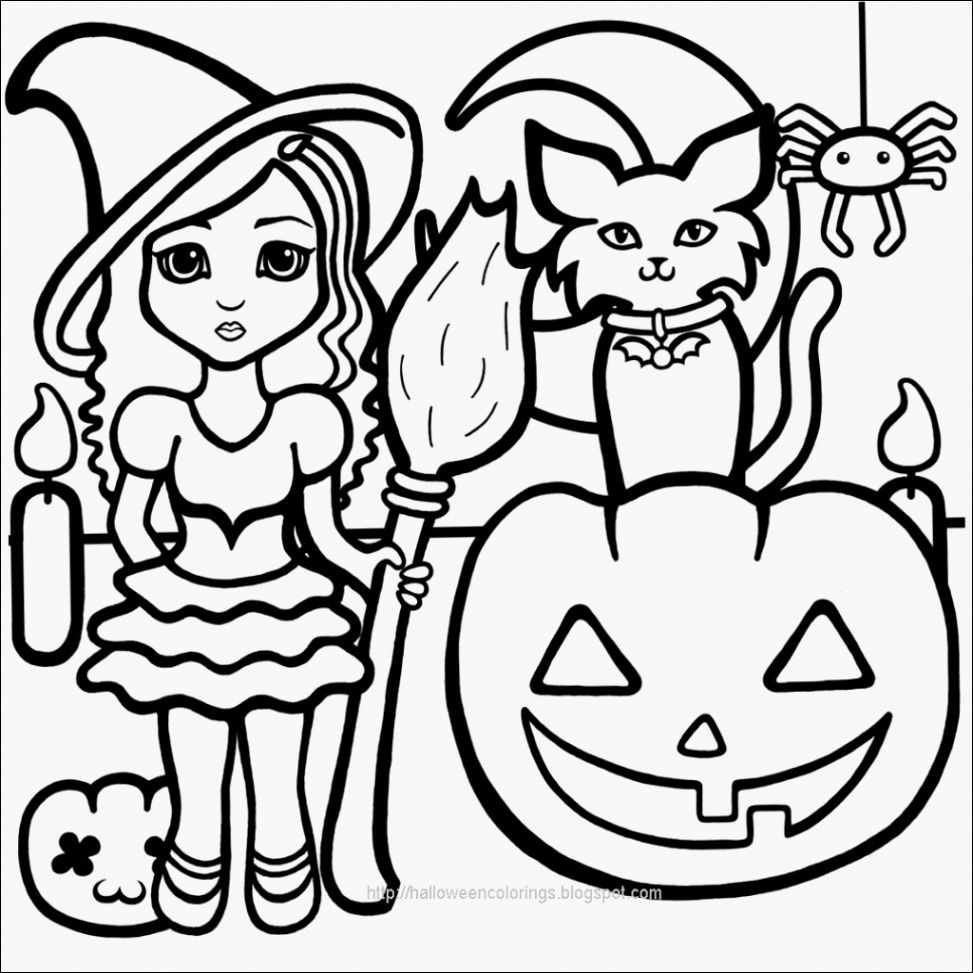 20 Calme Coloriage Halloween sorciere Qui Fait Peur Gallery