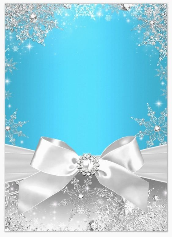 blue  u0026 silver with snowflakes and a diamond center bow