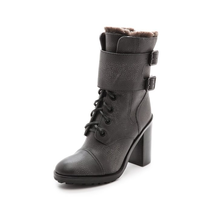 free shipping comfortable low shipping for sale Tory Burch Suede Combat Mid-Calf Boots 100% guaranteed cheap price DiC7zoth4