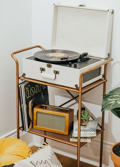 Boho Record Player Nook Livvyland Retro Home Retro Home Decor Home Decor