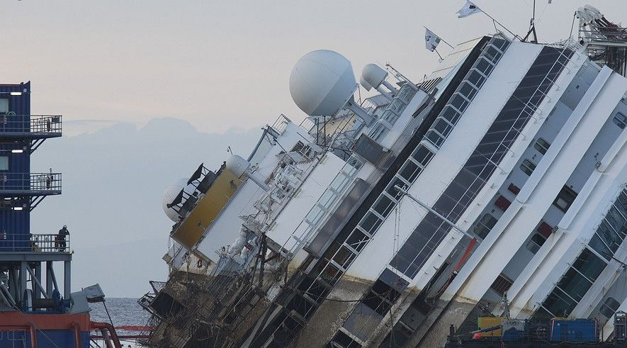 Newsela | Half-sunken ship set upright, to be refloated and towed away