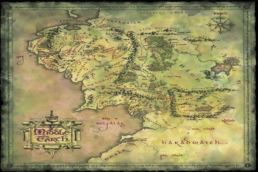 Custom canvas art the lord of the rings poster hobbit wall stickers custom canvas art the lord of the rings poster hobbit wall stickers retro world map wallpaper christmas bedroom decoration 2567 in wall stickers from home gumiabroncs Choice Image