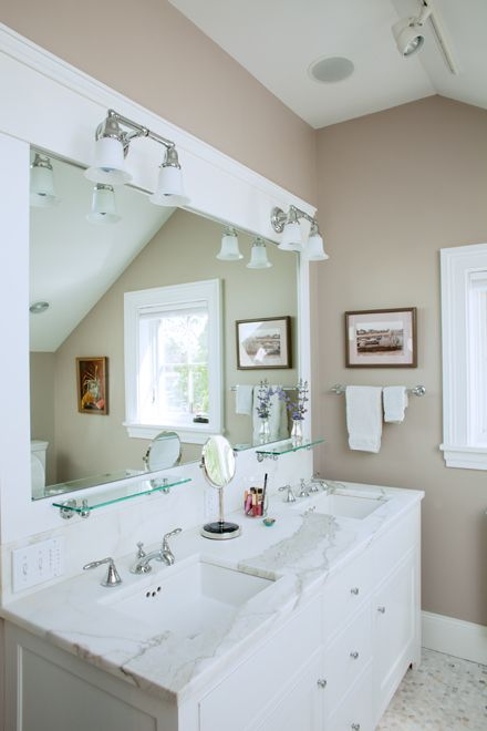 Urban Legend Bathroom From Maine Home Design Note The Glass Shelf