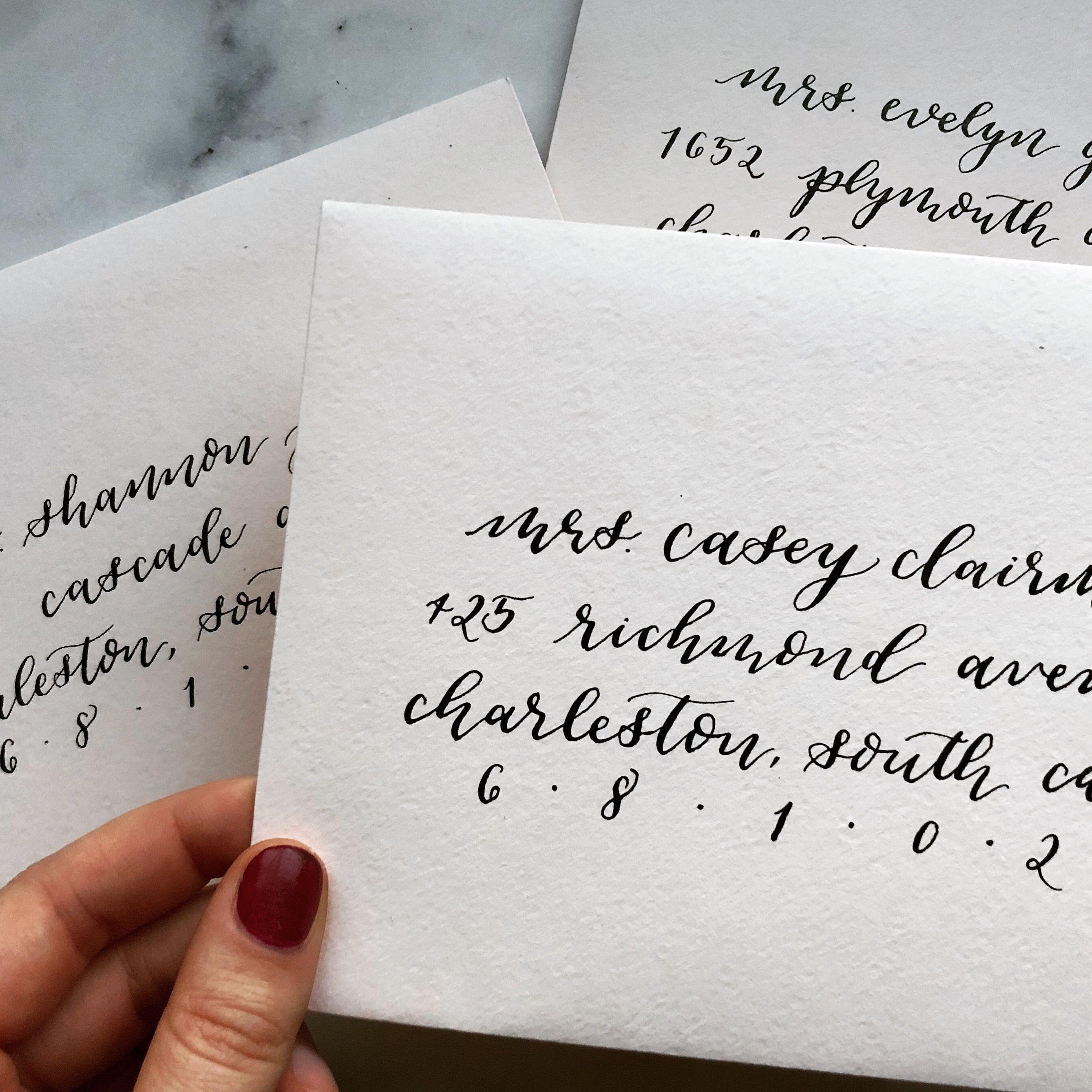 Modern Calligraphy Envelope Addressing Wedding