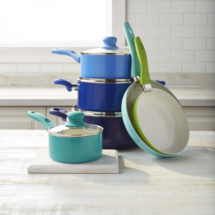 Ceramic Cookware Set 10 Piece Nonstick Coating Pot And Pan Cook